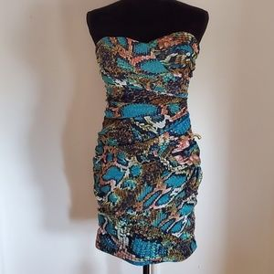 Multi Colored Snake Skin Dress